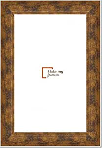 12x28 Inch Photo / Picture Frame in Dull Gold finish. For framing Documents, photos, Artwork, K319 Series - 1.22 inch wide moulding