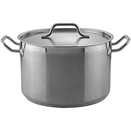 Heavy Duty Stainless Steel Stock Pot With Cover Size 80 Qt