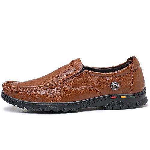 Color Taille Hommes Conduite Chaussures Marron Plat Mocassins Glissement de de des 2018 Homme d'été des sur à Chaussures Bateau 40 de Talon EU 7qUvxR