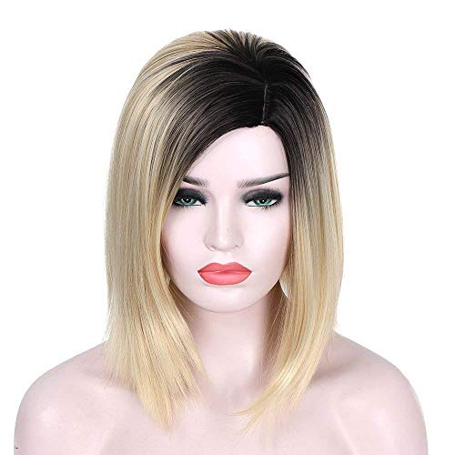 AISI HAIR Synthetic Bob Wig Ombre Blonde Wig