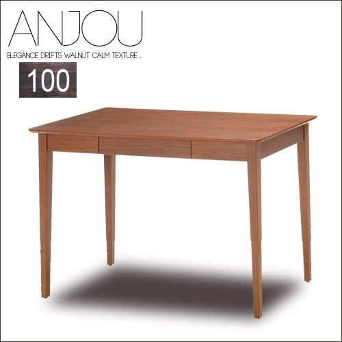 ウッドデスク 100 Anjou アンジュ 北欧風 木 木製 木目 高級感 引き出し パソコン パソコンデスク 書斎 リビング コンパクト プレゼント シンプル 寝室 可愛い 人気 おしゃれ B07CYY63XB