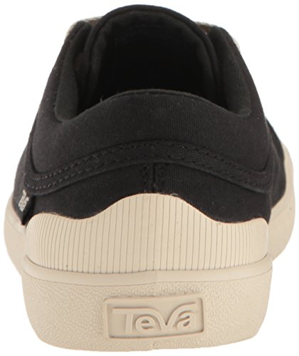 Teva Womens Freewheel Washed Canvas Slipper True Zwart
