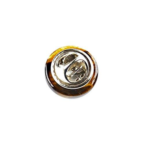 Quality Handcrafts Guaranteed Tiger Eye Lapel Pin