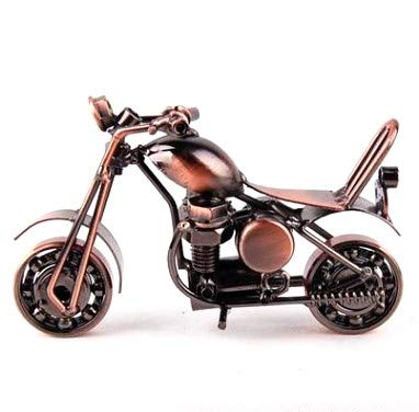 Metal Sculpture  Retro Classic Handmade Iron Motorcycle Model ,Abura Unique  Metal Art Decor