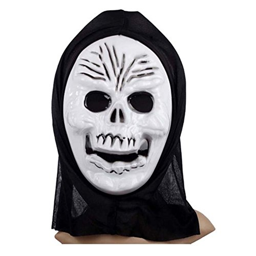 Pcongreat Pcongreat New Halloween Costume Accessories For Kids Adults Special Festival Offers Full Face Mask Scary Grimace Halloween Costume Evil Creepy Party Horror Human Skeleton Man -