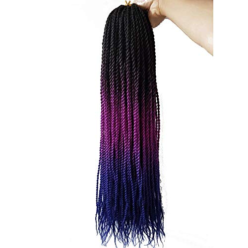 Ombre Senegalese Twist Crochet Braids 24 inch 6packs Small Havana Mambo Synthetic Braiding Hair Extensions long Senegalese Twists Hairstyles For Black Women 30strands/pack by Flyteng (Image #5)