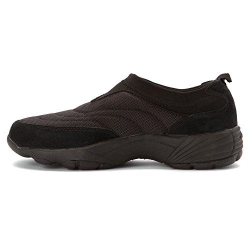 Propet Dameswas & -slip Op Nylon Sneakers Zwart Suède
