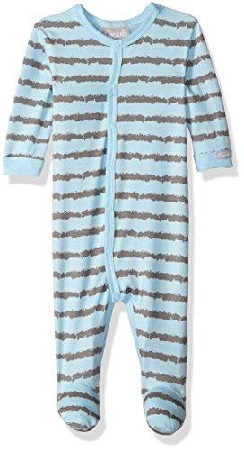 Coccoli Baby Boys' Rail Print Jersey Knit Cotton/Modal Footie, Slate/Blue, 9 Months