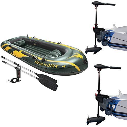 MRT SUPPLY 4 Juego de balsa Inflable y 2 Motores de Pesca para ...