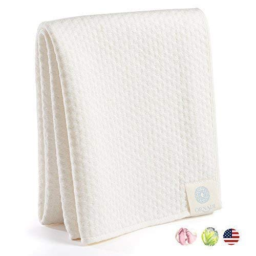 Bamboo Organic Cotton Extra Soft Spa Face Towel Luxury Care for Sensitive Skin Daily Facial Wash or Natural Hair Dry Cloth Premium Travel Protection Yoga Gym 15 X 35 Made in USA (Travel Bamboo Towel)