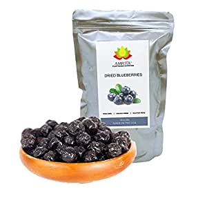 Dried Premium Blueberries, 1 lb - Gluten-Free, Dairy-Free, Soy-Free, Nut-free, Vegan Snack.