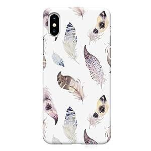 Loud Universe Phone Case For iPhone XS Wrap around Edges Boho Elegant Phone Case Feather Phone Case Bohemian