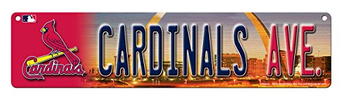 MLB St. Louis Cardinals High-Res Plastic Street Sign