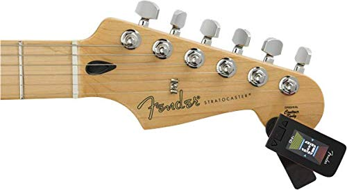 Fender Original Clip-On Tuner para guitarra eléctrica, bajo, mandolina, ukelele, violín y banjo - Fiesta Red