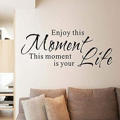 ZJMIQT Etiqueta de la Pared Disfruta de Este Momento es tu Vida ...
