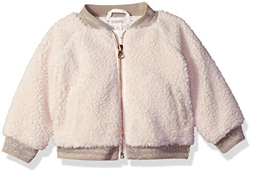 (Gymboree Baby Girls Bomber Jacket, White Sherpa 3-6 Mo)