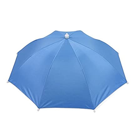 Banda elástica paraguas Sombrero de 40cm de Pesca Larga Blanco Azul