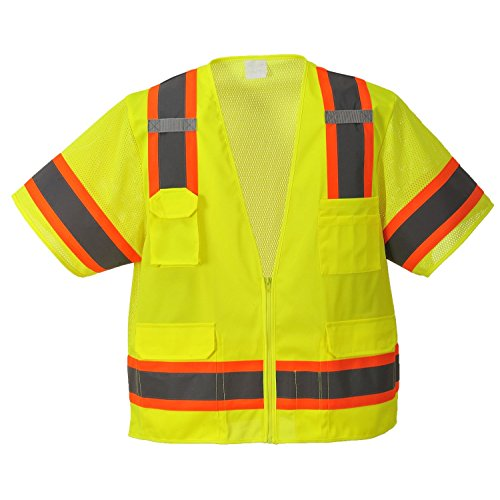 Portwest Aurora Sleeved Hi-Vis Vest (Extra Large, Yellow) (Aurora Vest)