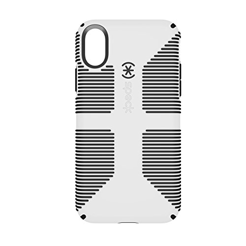 Speck Products CandyShell Grip Cell Phone Case for iPhone X - White/Black