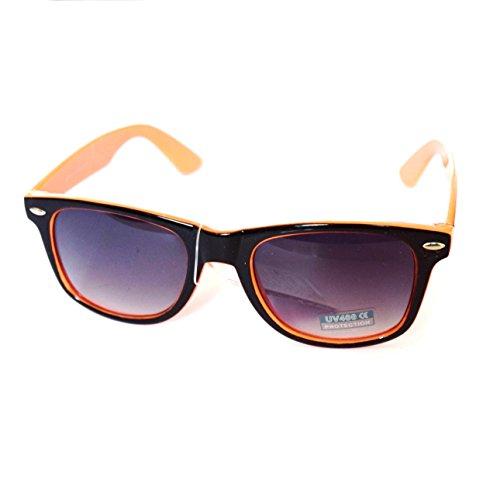 lente Wayfarer UV400 degradado con COLORES de efecto Gafas Nuevas Filtro Sol Naranja VARIOS YFZxnZgB8