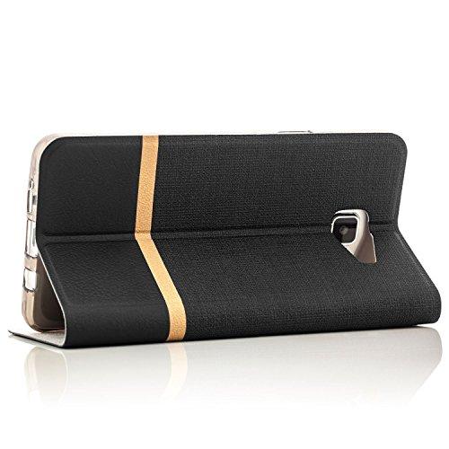 Funda LG K3 (2017) Case [Zanasta Designs] Cubierta Carcasa Flip Cover Tapa Delantera con Billetera para Tarjetas Protectora de Alta Calidad, Cierre Abatible Gris Negro