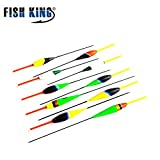 Yiwa 10pcs/set Fishing Float Set Flutuador Fluorescent Color for Carp Fishing Buoy Floats Tackle