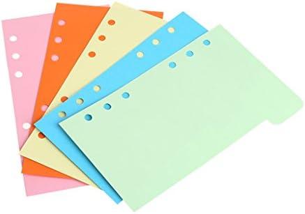 Tandou 5pcs Nachfüllblätter 6-Loch-blanko Papier für A5 A6 Lose Blatt Heft 1