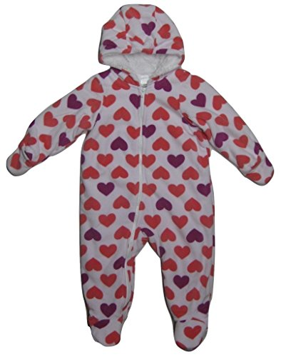 Cuddle Bunting - Cuddle Bear Baby Girls' Techni-Color Love Hooded Bunting, 12 Months