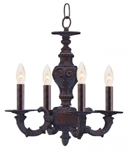 (Antique White Abbie 4 Light Candle Style Mini Chandelier)