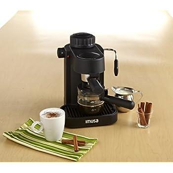 IMUSA, GAU-18200, Electric Espresso & Cappuccino Maker 4-Cup, Black