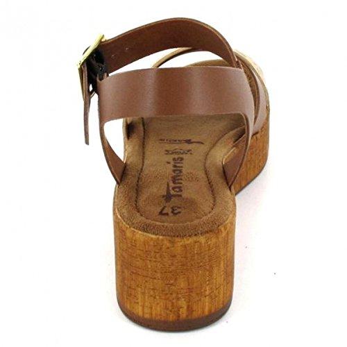 Tamaris 1-1-28352-28/392 392 - Sandalias de vestir para mujer marrón