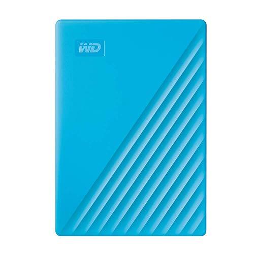 Western Digital WD My Passport externe Festplatte 2 TB (mobiler Speicher, schlankes Design, WD Discovery Software, automatische Backups, Passwortschutz) Blau - auch kompatibel mit PC, Xbox und PS4