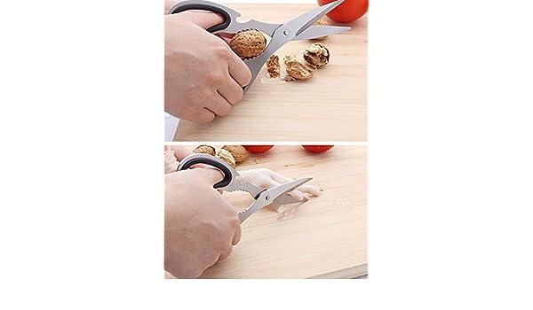 Steel Nutcracker Bottle Opener Cooking Scissors Nut Sheller Poultry Shears