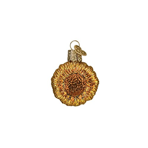 Old World Christmas Glass Blown Ornament with S-Hook and Gift Box, Mini Garden Collection (Mini Sunflower)