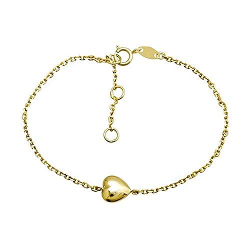 Bracelet Or 18k coeur droite 17cm. Première Communion [AA6667]