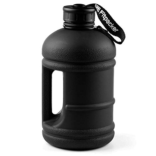 Hydra Jug - Fitpacker Fitness Water Bottle - Hydration Jug (Matte Black, 64oz)