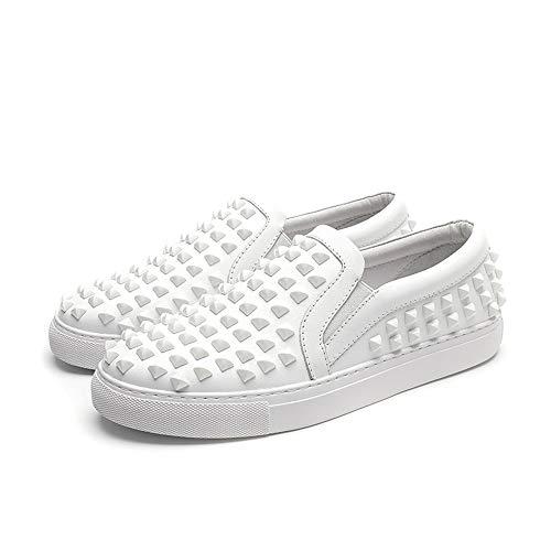 19a6c094e8c La Eu 42 Para Transpirables De Zapatos Únicos Conducción Suaves A color  Hombre Blanco Sin Hechos Costuras Tamaño Ocasionales Suela ...