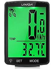 Medidor de velocidade de bicicleta, Romacci Computador para bicicleta sem fio Tela LCD multifuncional Computador para bicicleta velocímetro para mountain bike Odômetro IPX6 Ciclismo à prova d'água Cro