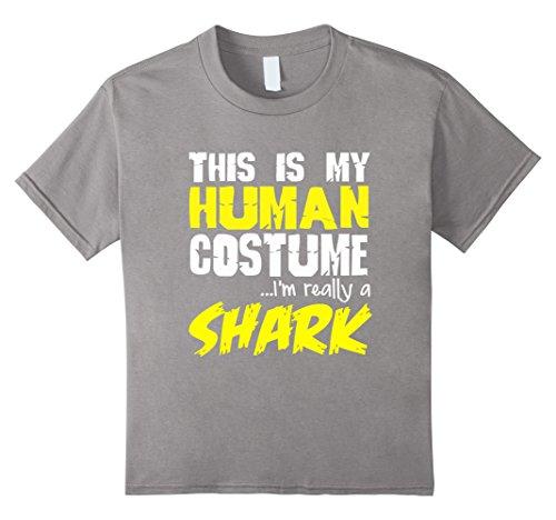 [Kids FUNNY REALLY A SHARK T-SHIRT Halloween Costume Zoo Animal 4 Slate] (Father Daughter Halloween Costumes)