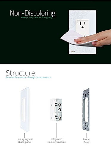 Livolo White Us Standard Vertical Duplex Receptacle Electrical