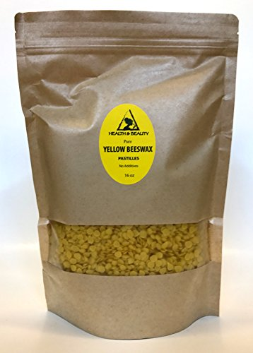 Yellow Beeswax Bees Wax Organic Pastilles Beards Pure 16 oz,
