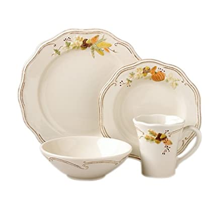 Pfaltzgraff Plymouth 16-Piece Dinnerware Set (Service For 4)  sc 1 st  Amazon.com & Amazon.com | Pfaltzgraff Plymouth 16-Piece Dinnerware Set (Service ...