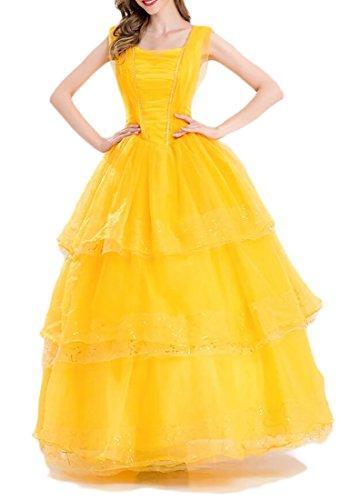 WANSHIYISHE Womens Belle Costume Adult Size Show Dress