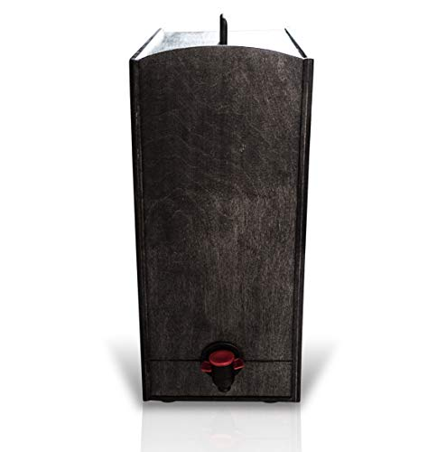Boxed Wine Wood Case by Winewood | Black Color | Fits 3 Liter and 5 Liter Boxes of Wine | Holder, Dispenser, Cover for Boxed Wine