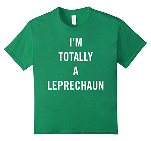 Kids Easy Halloween Costume Tees - Im totally a leprechaun tshirt 12 Kelly Green