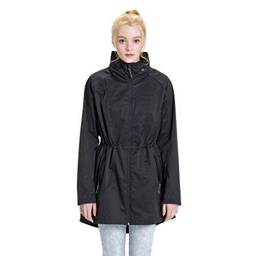 Black Long Raincoat - 6