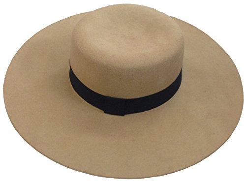 YueLian Women Wool Fedora Jazz Hats Caps Red