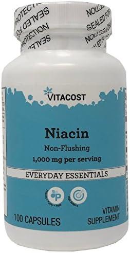 Vitacost Niacin Non – Flushing — 1000 mg per serving – 100 Capsules