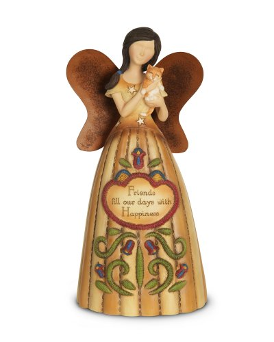 Pavilion Gift Company 29068 Country Soul Friends Angel Figurine, 6-Inch