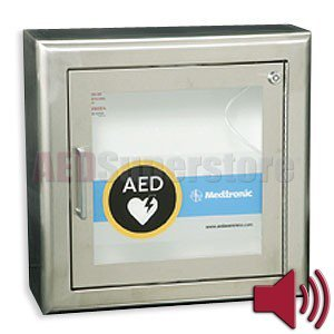 Cabinet STAINLESS Surface Mount with Alarm & Rolled Edges - 11220-000076 by Physio-Control